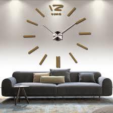 Large Mirrored Wall Clock Discount Modern Wall Art Set Large 2017 Modern Wall Art Set
