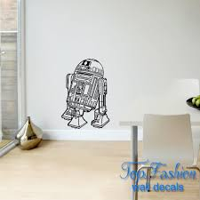 online get cheap large star wars sticker aliexpress com alibaba large star wars r2d2 self adhesive wall sticker wall mural pvc home decal kids bedroom