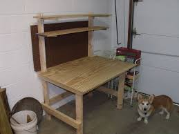 how to build a work table build garage work table with attached shelves