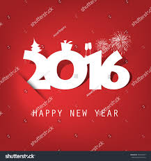 simple white new year card stock vector 345240353