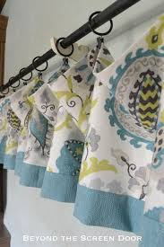 How To Sew Valance How To Make A Lined Valance With Contrasting Band Beyond The