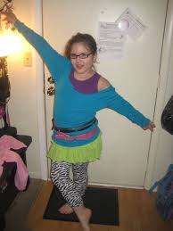80s day trying on a few this one is too cute cut neck