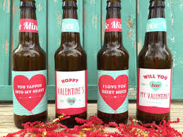 valentines beer labels valentines gift for him gift for