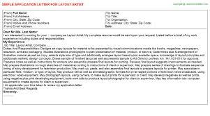 layout artist job specification layout artist application letter