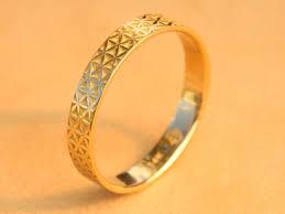boho wedding ring gold flower of ring flower of wedding band boho
