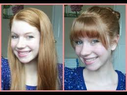should i get bangs for my hair to hide wrinkles how to cut your own bangs fringe at home youtube