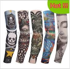 cycling tattoo sleeves halloween 5pc kit collection long arm fake
