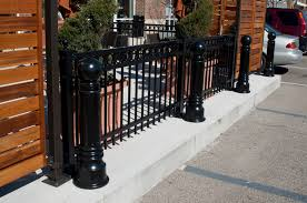 decorative metal bollard covers iron steel and aluminum