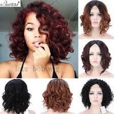 short curly bob wig glueless lace front short bob wigs natural synthetic hair deep curly