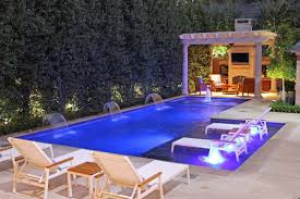 Modern Back Yard Ideas Stunning Backyard Pool Ideas With Chaise Lounge Plus Green