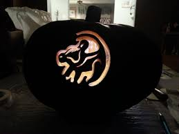Puking Pumpkin Carving Stencils by Lion King Simba Marking On Tree My Pumpkin Carvings Pinterest