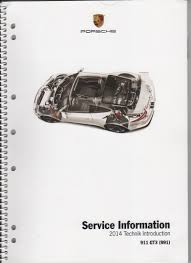fs 2014 911 991 gt3 service information manual book rennlist