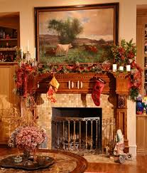 Interior Design Christmas Decorating For Your Home Ideas Feasible Christmas Themed Fireplace Mantel Decorating