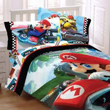 Mario Bedding Set Bed Sheets Set 5pc Nintendo Mario Kart