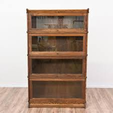 Potterybarn Bookcase Closed Bookshelf With Glass Front Lift Doors Like A Library