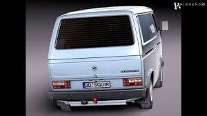 volkswagen models van volkswagen t3 van 1979 1988 3d model from creativecrash com youtube