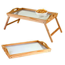 Breakfast In Bed Table by Wooden Lap Tray Breakfast In Bed Serving With Folding Legs Table