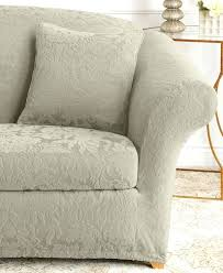 loveseat ifresh stretch suede one piece loveseat slipcover sure