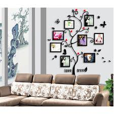 Wood Wall Stickers by White Stain Wall Come With Black Stain Wooden Wall Photo Frame And