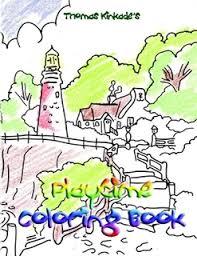thomas kinkade playtime coloring book thomas kinkade ebook lulu