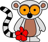 lemur paper craft