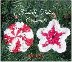 fast festive crochet ornaments moogly