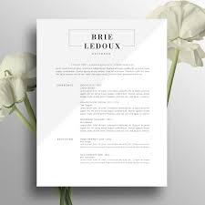 Two Page Resume Header Professional Resume Template Creative Resume Design Modern 2