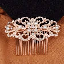 hair comb accessories gold bridal hair accessories wedding prom hair comb tyale store