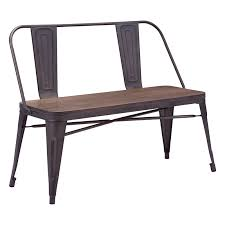 elio double bench rustic wood modern benches modern ottomans