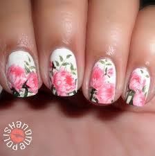 peonies nail art nailart flowers nails my nail art