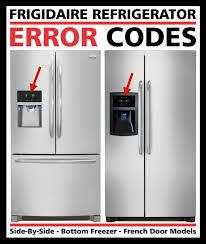 Muito Frigidaire Refrigerator Error Codes - Fault Codes  &CK06