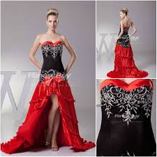 Red Wedding Dresses Red N Black Wedding Dresses Black Dresses Dressesss