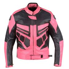 womens motorcycle clothing new womens motorcycle ce armor leather jacket pink u2013 jackets4bikes