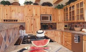 Knotty Wood Kitchen Cabinets by Furniture Awesome Kitchen Cabinet Knotty Pine With Diagonal Wall