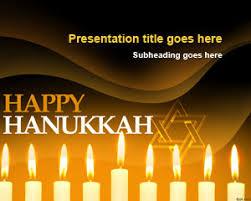 free happy hanukkah powerpoint template