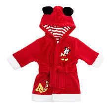 robe de chambre disney adulte peignoir à capuche de fête mickey mouse et pluto pour bébé