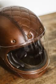 leather motorcycle helmet larson upholstery bell bullitt custom sideroist