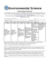 Family Merit Badge Worksheet Answers Environmental Science Bioinformatics Water Pollution