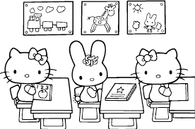 hello kitty classroom coloring pages bebo pandco