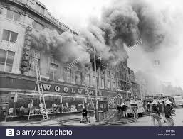 fire at woolworths departent store in central manchester tuesday