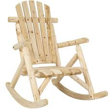 The Best Rocking Chair Best Choice Products Wood Log Rocking Chair Single Rocker Natural