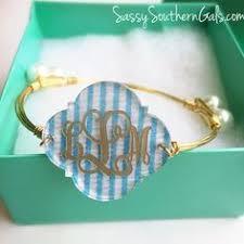 monogrammed bangle bracelet handmade beaded monogram bracelet monogram obsessions