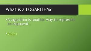 logarithms ppt download
