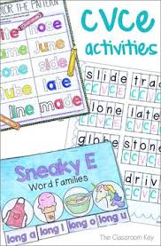 cvce phonics activities worksheets posters a tab book and