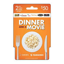 dinner and a gift card amc and dinner gift card