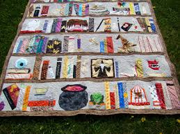 Bookshelf Quilt Pattern My Quilting Addiction Harry Potter Bookshelf Is Finished