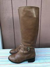 womens brown leather boots size 11 michael kors hamilton size 11 luggage leather boots