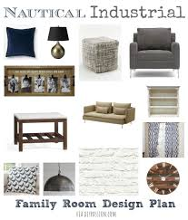 Nautical Family Room Our Nautical Industrial Family Room A Design Plan Diy Passion