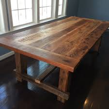 rectangular dining table in rustic wood article madera modern