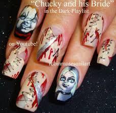 scary movie nail art robin moses nail art